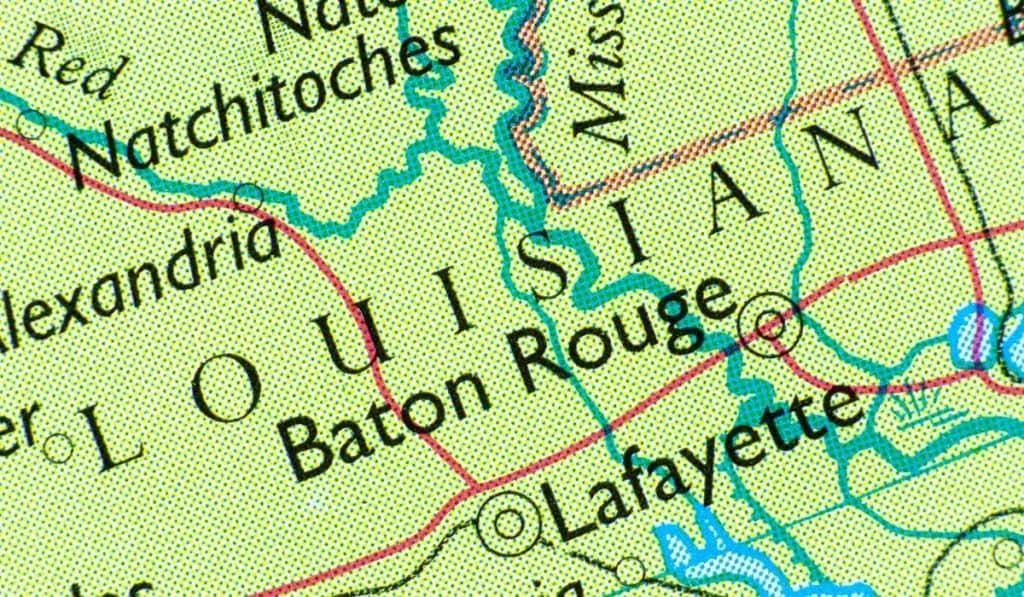 Baton Rouge, LA on map