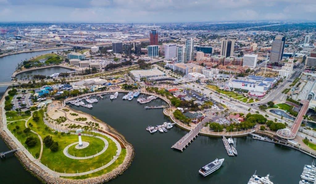 Long Beach CA aerial view
