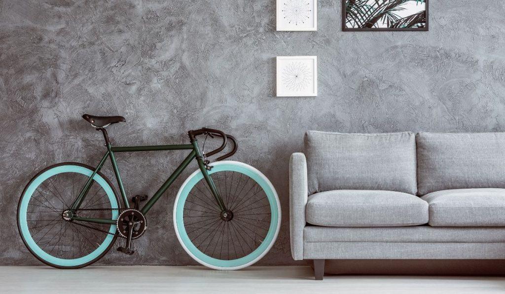 bike stored inside the house