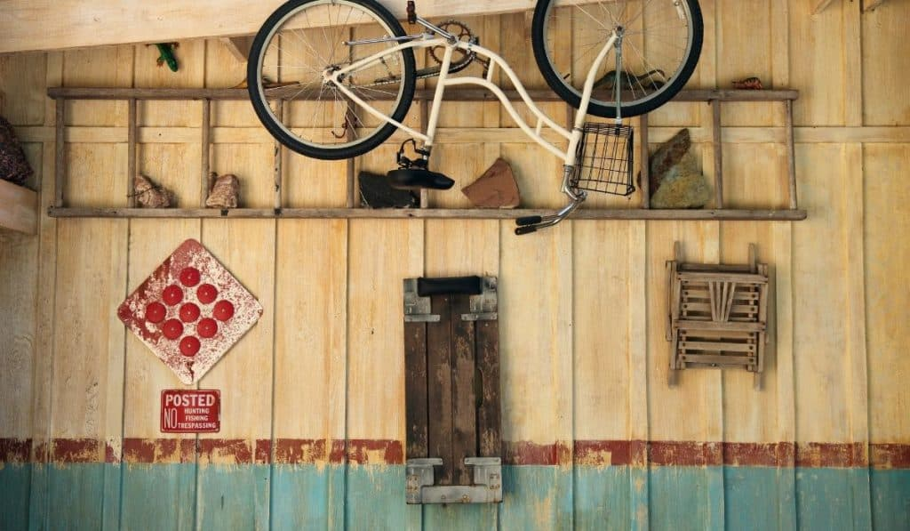 bike stored upside down