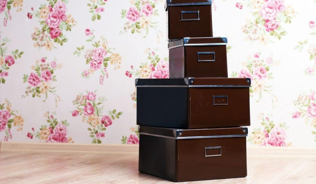 storage boxes stacked vertically