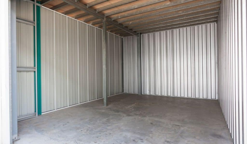 inside of a storage unit