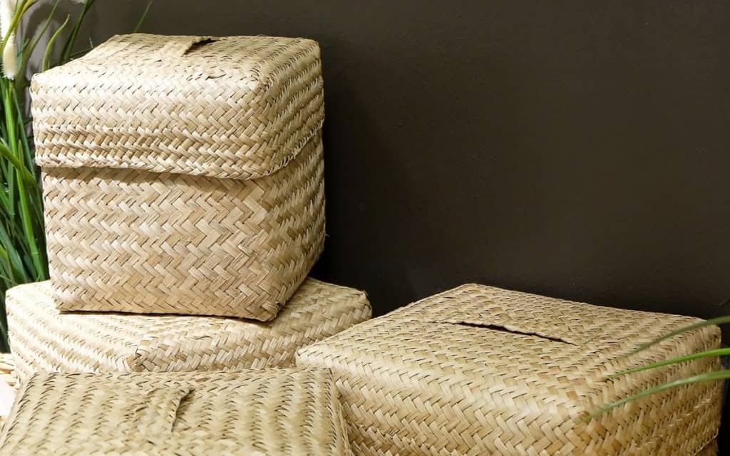 wicker-storage-cubes-stacked-against-wall