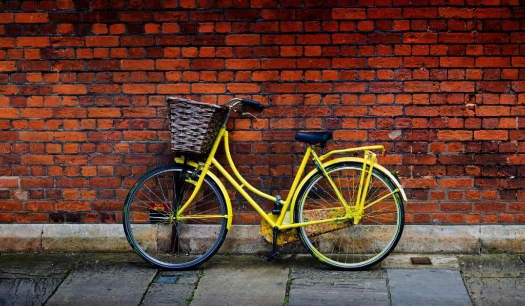 yellow and black bike on the streets