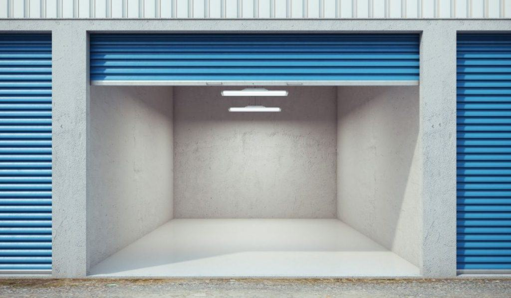 open storage unit space