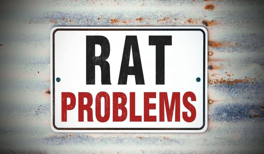 rat problems signage outside a storage facility