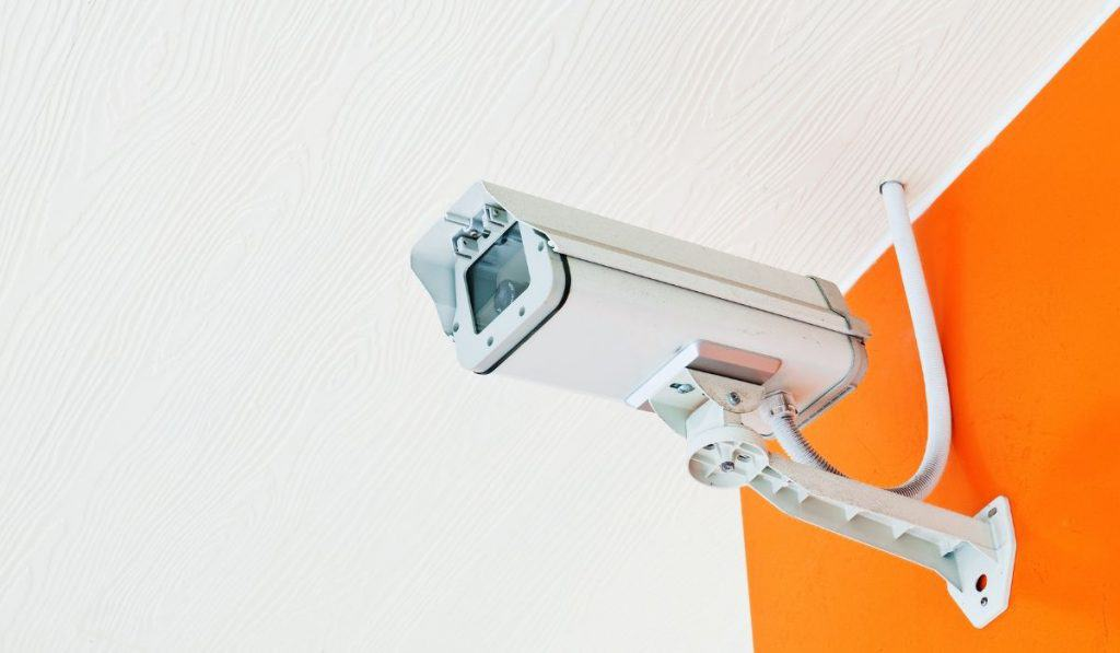security camera in a storage facility